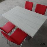 Moderner weißer runder kleiner Gaststätte-Kaffeetisch mit Stuhl (T1704205)