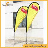 bandierina parteggiata singola o doppia del Teardrop di stampa della vetroresina di mostra di 2.8m/bandierina di volo/bandierina di spiaggia