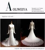 O marfim da sereia personaliza o vestido de casamento com buraco da fechadura
