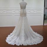 Платье Bridesmaid платья венчания двойного слоя втулки крышки