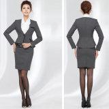 Ternos de negócio ajustados longos das mulheres do blazer e da saia da luva das senhoras