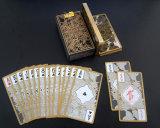 Cartões de jogo transparentes da qualidade superior Plastic/PVC com os cartões da borda/póquer do ouro