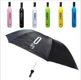 Os frascos de vinho do guarda-chuva do presente que dobram o guarda-chuva creativo do guarda-chuva da chuva de Sun personalizam dado boas-vindas