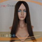 Надкожица 100% цвета Brown девственницы человеческих волос верхнего качества нетронутая Intact на Kosher Toupee экстракласса
