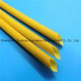Résine de silicones enduite gainante de fil contre la chaleur de fibre de verre à haute tension de protection