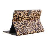 Caixa da carteira da caixa do couro do teste padrão da cópia do leopardo para o ar 2 do iPad