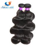 Onda malaia do corpo do cabelo do Virgin cabelo humano malaio de 3 negócios do pacote