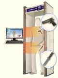 Caminata del uso del gobierno del sistema de identificación a través del detector de metales para los cuchillos