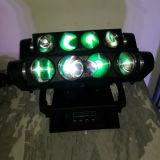 8PCS 12W RGBW LEDのくものビーム移動ヘッドライト