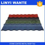 Mattonelle rivestite dello strato del tetto del metallo del chip di pietra