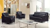 本革のオフィスのCombiniationのソファーのWthの鋼鉄足