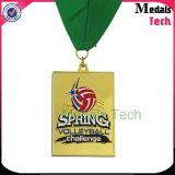 Medallas corrientes grabadas 3D del color de la plata del acontecimiento del verano