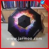 Guarda-chuva relativo à promoção do presente da cor preta feita sob encomenda