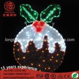 LED 처마 Xmas 훈장을%s 장식적인 IP65 번쩍번쩍하는 장식물 선물 벨 주제 밧줄 크리스마스 불빛