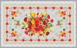 Tablecloth transparente impresso do PVC do projeto da alta qualidade LFGB material independente (TZ-0036)