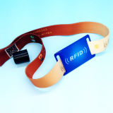 축제 E 표 RFID Ntag216 NFC 직물 팔찌