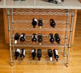 Estante ajustable del estante del vino del metal del cromo para el almacenaje