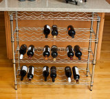 Регулируемая полка шкафа вина металла крома для хранения