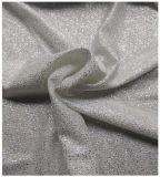 Текстильная полиэфирная четырехсторонняя эластичная ткань, серебристая отделка, для юбкой