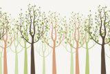 Moderne Stijl Vijf het Ontwerp van het Patroon van Bomen voor het Olieverfschilderij van de Decoratie van het Huis