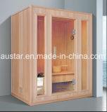 sauna di legno attillata solida di rettangolo di 1530mm per 4 persone (AT-8646)