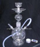 Pipe de fumage en verre transparente simple de narguilé