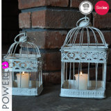 Suporte de vela decorativo Wedding do Birdcage do metal
