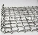 Engranzamento de fio frisado de tecelagem liso do aço inoxidável