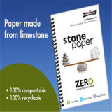 Papel sintético da rocha da cor branca para o caderno impermeável