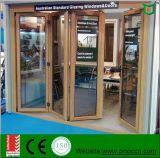 La puerta de aluminio plegable del doblez del BI del estilo se conforma con el estándar de Australia