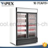 Verschließbarer einzelner Tür-Bildschirmanzeige-Kühlraum, Supermarkt-Getränkeaufrechte Bildschirmanzeige-Kühlvorrichtung