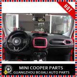Ajuste central del estilo rosado material del ABS del accesorio auto para el modelo renegado (1PC/SET)