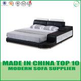 Base casera del dormitorio del cuero genuino de los muebles del ocio