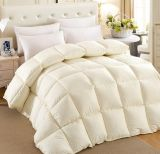 Cream Color Silk Cover Sticky White Goose Down Comforter
