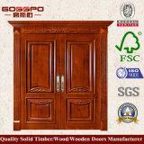 Porte en bois de type de double d'entrée américaine de lame (GSP1-026)
