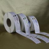 La alta calidad modificó la escritura de la etiqueta adhesiva de la etiqueta engomada para requisitos particulares