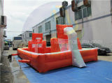 Campo di football americano gonfiabile diretto del sapone della fabbrica, campo da pallacanestro combinato