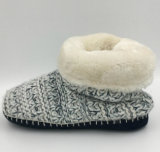 Lds Knit Indoor Slipper Boots