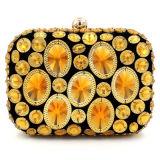 Hot Ladies Party Sac à main en coton coloré Sac en cristal de pierre Eb715