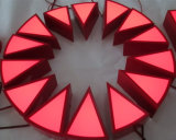 Почищенное щеткой письмо канала неоновый знака логоса металла 3D габаритным СИД Stainlessteel загоранное светом открытое изготовленный на заказ красное