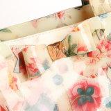 3개 크기는 방수 처리한다 PVC 로즈 꽃 쇼핑 백 핸드백 (T042-1)를