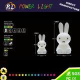 Conejo Miffy de iluminación de animales caliente-vendiendo para la decoración de Pascua con las luces del LED