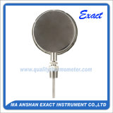 Termometro bimetallico del termometro dell'acciaio inossidabile - fare scorrere il termometro del connettore