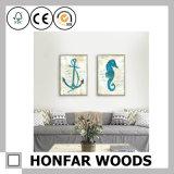 Cadre de tableau en bois de caboteur d'affiche d'art de mosaïque