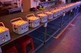 la IGUALDAD de 12*18W LED conserva 6 en 1 luz sin hilos de la IGUALDAD de la batería de DMX