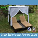 Meubles en aluminium de rotin de PE, meubles extérieurs, salon de cabriolet de patio