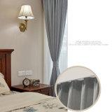 古典的なヘリンボンパターンリネン固体停電の窓カーテン