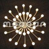 현대 유럽 철 금속 예술 장식적인 백색 꽃을 피우는 꽃 E14 LED 샹들리에