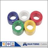 fil de terre Vert-Jaune de fil électrique enduit de PVC de câble de terre 450/750V avec la qualité