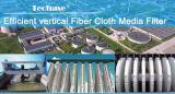 Filtre de medias très efficace de tissu de fibre